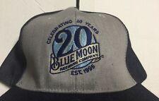 Blue Moon Brewing Company Hat 20 Years Est 1995 New Denim snap-back baseball cap