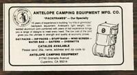 1979 Antelope Camping Equipment Cupertino CA Print Ad Pack Frames