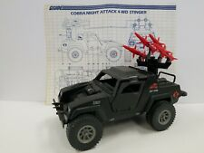 GI JOE STINGER JEEP Vintage Action Figure Vehicle COMPLETE w/STEERING WHEEL 1984