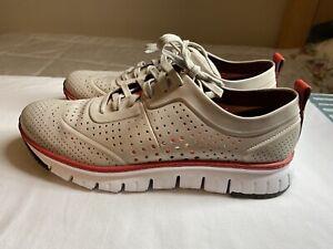 Mens Cole Hann Zerogrand Perf Sneaker Dove/Optic Tan/Red/White Size 9.5M C32496