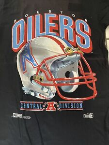 vintage houston oilers salem sportswear shirt M rare 🔥OG🔥90s Deadstock NFL