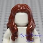 NEW Lego Girl Minifig Long BROWN HAIR - Pirate Female Wavy Shoulder Head Gear