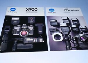 Minolta X-700 System Marketing Booklet Leaflet Instructional Brochure Manual