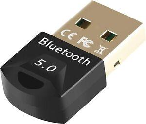 ADATTATORE BLUETOOTH 5.0 USB RICEVITORE WIRELESS DONGLE PER PC WINDOWS