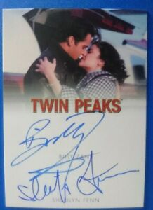 Twin Peaks Rittenhouse Archives Billy Zane & Sherilyn Fenn dual autograph card