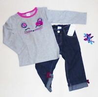 Gymboree Girls Mouse Tee Denim Jeans Curly Size 2T NWT