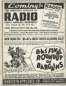 VTG 1938 RADIO & ELECTRONICS ADVERTISING FLYER! DETROLA/FERGUSON/KADETTE/ORIOLE+