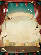 5x7ft Vinyl Cartoon Circus Curtain Stage Photography Studio Backdrop Background