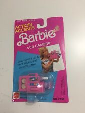 NIP Mattel 1989 Barbie Action Accents Wind Up VCR Camera 80s Camcorder Toy Tape