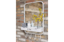 Rustic French Mirror Chic Vintage Style Hooks & Storage