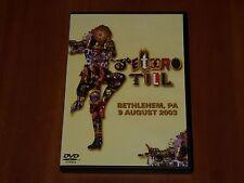 JETHRO TULL DVD LIVE IN BETHLEHEM AUGUST 2003 RARE FULL CONCERT 21-TRACKS New