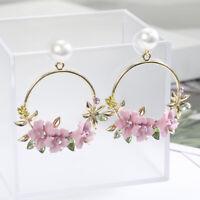 Ear Personality Flower Stud Fashion Jewelry Pearl Earrings Women Temperament