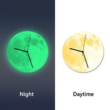 Novelty 3D Wall Clock Moon Moonlight Wall Clock Glow In The Dark Home Necessary