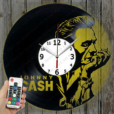 LED Vinyl Clock Johny Cash LED Wall Decor Art Clock Original Gift 455