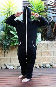 OZA Black Hooded One-piece