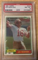 1981 Topps Football Joe Montana ROOKIE  #216 PSA 8