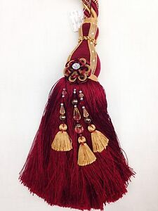 Maroon Red Monoco Large Tassels