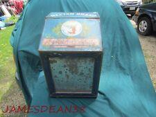 1911 NECTAR TEA COFFEE COUNTER BOX BIN ST LOUIS COFFEE & SPICE MILLS  TIN