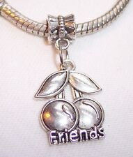 Friends Cherries Fruit Cherry Slot Machine Dangle Charm for European Bracelets