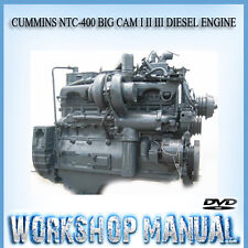 CUMMINS NTC - 400 BIG CAM I II III DIESEL ENGINE WORKSHOP SERVICE MANUAL IN DISC