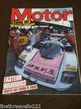 MOTOR MAGAZINE - SPORTS CAR RACING IN JAPAN - DEC 29 1984