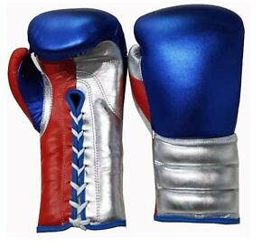 New Custom Mexican laces boxing gloves, any logo Name,no winning,no grant,metal