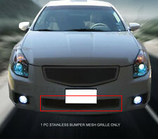 Black Stainless Steel Mesh Grille Bumper For Nissan Maxima 2007-2008