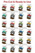 24x MONSTER TRUCK Edible Wafer Cupcake Toppers PRE-CUT Ready to Use