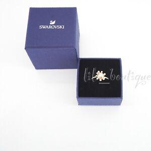 NIB New Swarovski 5482714 Olive Ring Round Golden Crystals Gold Plated Size 52