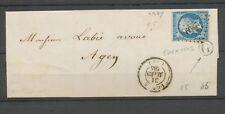 1860 Lettre N°14 Obl PC2399 PENNE(45) + BR G TRENTELS LOT ET GARONNE X3379