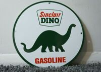 VINTAGE SINCLAIR PORCELAIN SIGN GAS MOTOR OIL STATION PUMP DINO GASOLINE AD PUMP