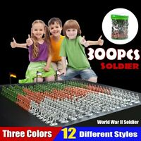 300pcs/lot Military Plastic Soldier Model Toy Army Men Figures Decor Play Set