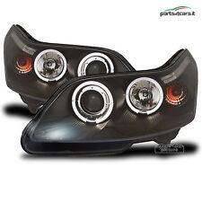Fari anteriori per Citroen C4 dal 2004 con anelli Angel Eyes luci avanti fanali