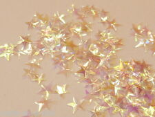 100 Sterne Streuelemente Streudeko Basteln 5-10 mm  Klar Shiny  Kartengestaltung