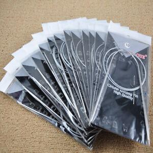 """11pcs/set 32"""" 80cm Stainless Circular Knitting Needles Kit Weaving Tools"""
