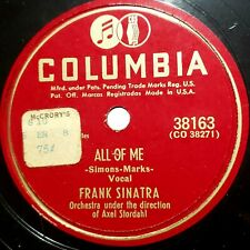 Frank Sinatra: All Of Me / I Went Down To Virginia: Columbia 1948 (Pop)