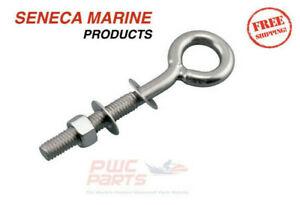 """SENECA Marine Stainless 304 Welded Eye Bolt 3/16"""" 1/4"""" 5/16"""" 3/8"""" 1/2"""" S0312-XXX"""
