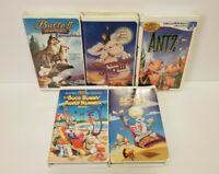 Lot of 5 Childrens Warner Bros Universal DreamWorks VHS Tapes Bugs Bunny Antz
