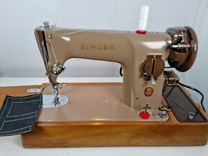 VINTAGE SINGER 201K SEWING MACHINE, FULL SERVICE, ELECTRIC PAT TEST,sew LEATHER