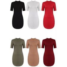 Regular Size Solid Tunic Casual Dresses for Women