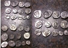13 piecesTrésor d'Auriol carré creux repro litra obole tetramorion Hemidrachme
