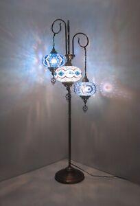 Turkish floor lamp mid century floor lamp standing lamp glass metal floor lamp