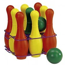 rolly toys 261550 KEGELSPIEL mit 27cm Kunststoff-Kegeln und 2 Kugeln