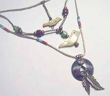 925 Coral/Turquoise Mop Necklaces Sunface 3 Native American Navajo Sterling