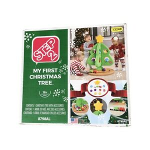 Step2 My First Christmas Tree Star Top Ornaments Train Pretend Play 18mo+ NEW