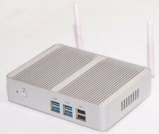 Mini PC HTPC KIT Fanless Intel i3 4005U 1.70 GHz BAREBONE PC DHL Free 12V CAR PC