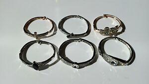 Wholesale Clearance Job Lot Silver Gold Diamond Bangles UK Stocks £16 for 20pcs