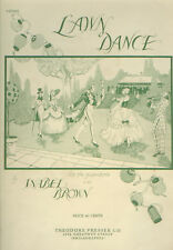 Lawn Dance 1933 Sheet Music - Large Format - Isabel Brown, Composer - For Piano