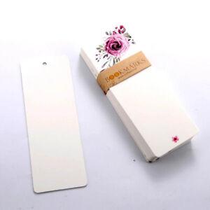 40Pcs Bookmark Blank Paper Bookmark Reading Book Mark School Stationery DIY