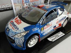UNIQUE perso Peugeot 207 Ogier rallye monte carlo 2009 1/18 solido avec boite